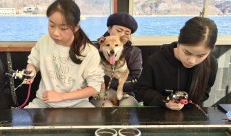 犬とアクティビティ体験│愛犬と一緒に楽しめる!山中湖のワカサギ釣り