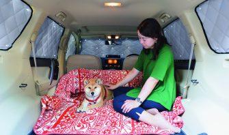 これからの季節、愛犬との車中泊も快適に♪ 装着も簡単な便利アイテム!